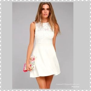 "NEW ""Doily Darling"" White Dress"